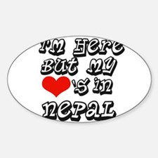 Heart in Nepal Oval Decal
