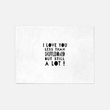 I Love You Less Than Shuffleboard 5'x7'Area Rug