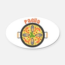 Paella Oval Car Magnet