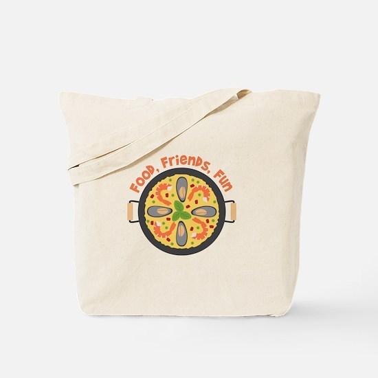 Food Friends Fun Tote Bag