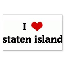 I Love staten island Rectangle Decal