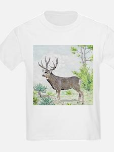 Mule deer aspens edge T-Shirt