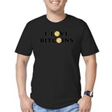 Bitcoin Fitted Dark T-Shirts