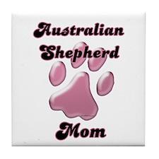 Aussie Mom3 Tile Coaster