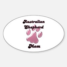 Aussie Mom3 Oval Decal