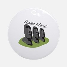 Easter Island Round Ornament