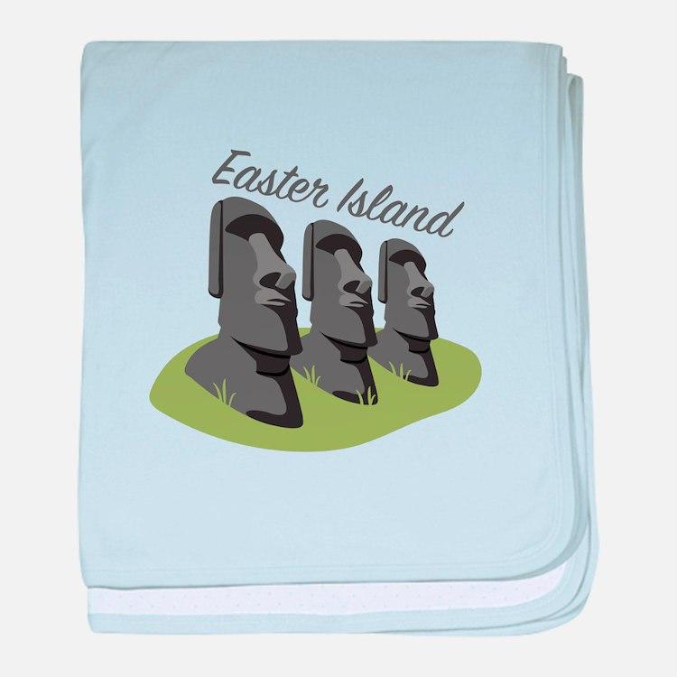 Easter Island baby blanket