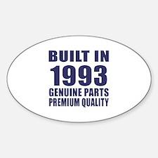 Built In 1993 Sticker (Oval)