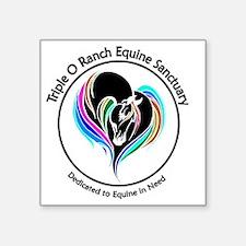 """Unique Equine rescue Square Sticker 3"""" x 3"""""""