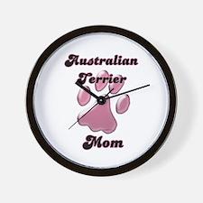 Aussie Terrier Mom3 Wall Clock