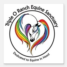 "Cute Equine rescue Square Car Magnet 3"" x 3"""