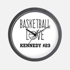 Basketball Love Personalized Wall Clock