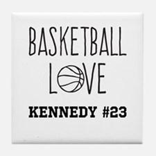 Basketball Love Personalized Tile Coaster