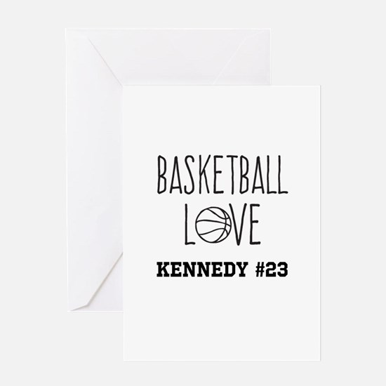 Basketball Love Personalized Greeting Cards