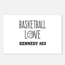 Basketball Love Personalized Postcards (Package of