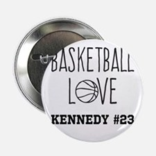 """Basketball Love Personalized 2.25"""" Button"""