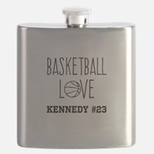 Basketball Love Personalized Flask
