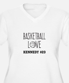 Basketball Love Personalized Plus Size T-Shirt
