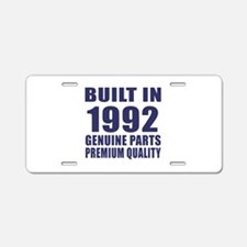 Built In 1992 Aluminum License Plate