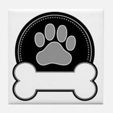 Cute Bone tag Tile Coaster