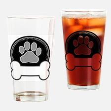 Cute Bone tag Drinking Glass