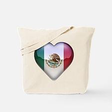 Mexico Heart Tote Bag