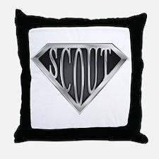 SuperScout(Metal) Throw Pillow