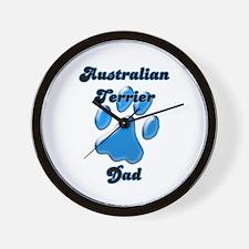 Aussie Terrier Dad3 Wall Clock