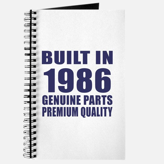 Built In 1986 Journal