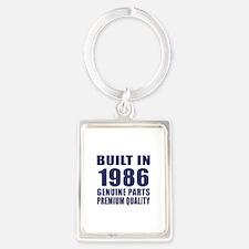 Built In 1986 Portrait Keychain