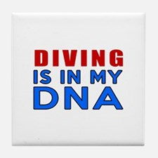 Diving Is In My DNA Tile Coaster