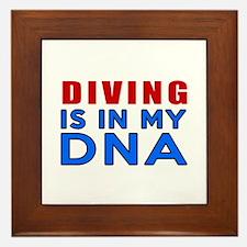 Diving Is In My DNA Framed Tile