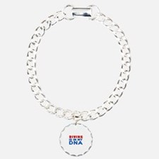 Diving Is In My DNA Charm Bracelet, One Charm