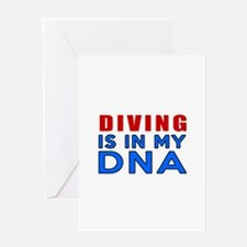 Diving Is In My DNA Greeting Card
