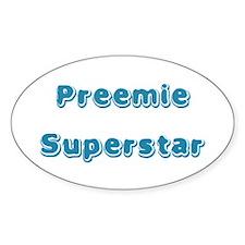 Preemie Superstar Oval Decal