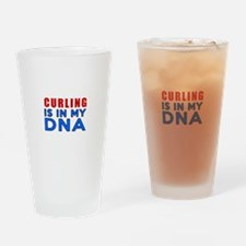 Curling Is In My DNA Drinking Glass