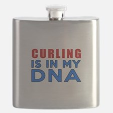 Curling Is In My DNA Flask