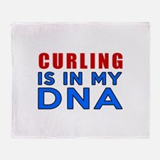 Curling Is In My DNA Throw Blanket