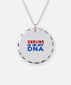 Curling Is In My DNA Necklace
