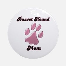 Basset Hound Mom3 Ornament (Round)