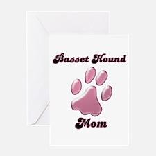 Basset Hound Mom3 Greeting Card