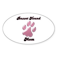 Basset Hound Mom3 Oval Decal