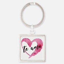 Unique I love you in sign language Square Keychain