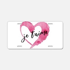 I Love You - French Aluminum License Plate