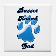 Basset Hound Dad3 Tile Coaster