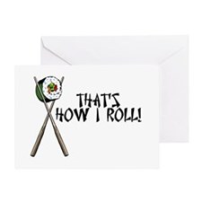 Sushi ROLLing Greeting Card