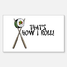 Sushi ROLLing Rectangle Decal