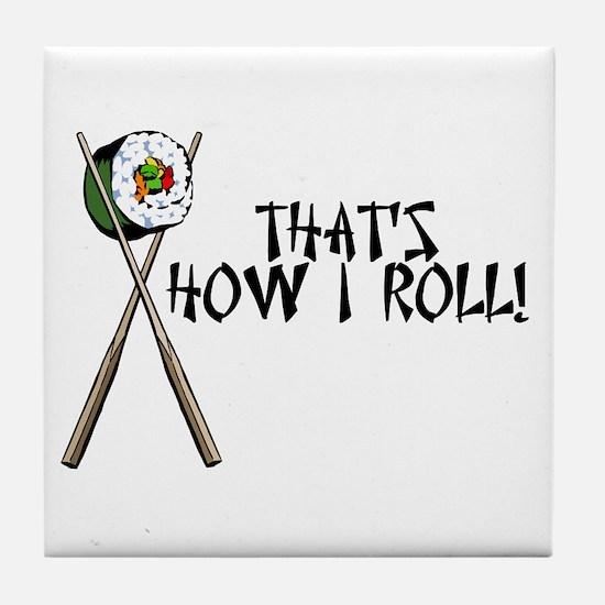Sushi ROLLing Tile Coaster