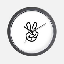 VEE FOR VICTORY! - TWO FINGERED SALUTE! Wall Clock
