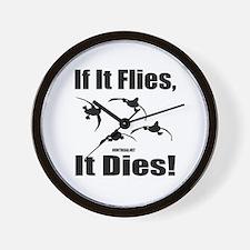 If It Flies, It Dies! Wall Clock